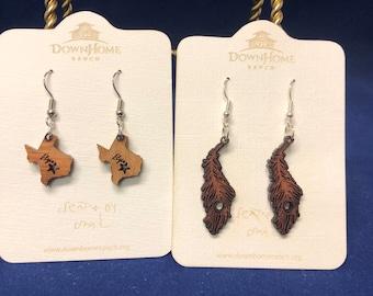 Wooden Earrings - Rancher Made
