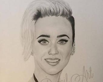 Katy Perry Original Graphite Drawing