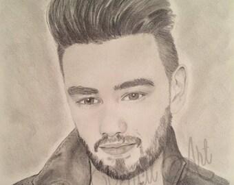 Liam Payne Original Graphite Drawing