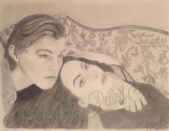 Jack And Rose From Titanic Kate Winslet And Leonardo Dicaprio Etsy