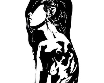 Contrast Girl Giclée Print SIGNED & NUMBERED