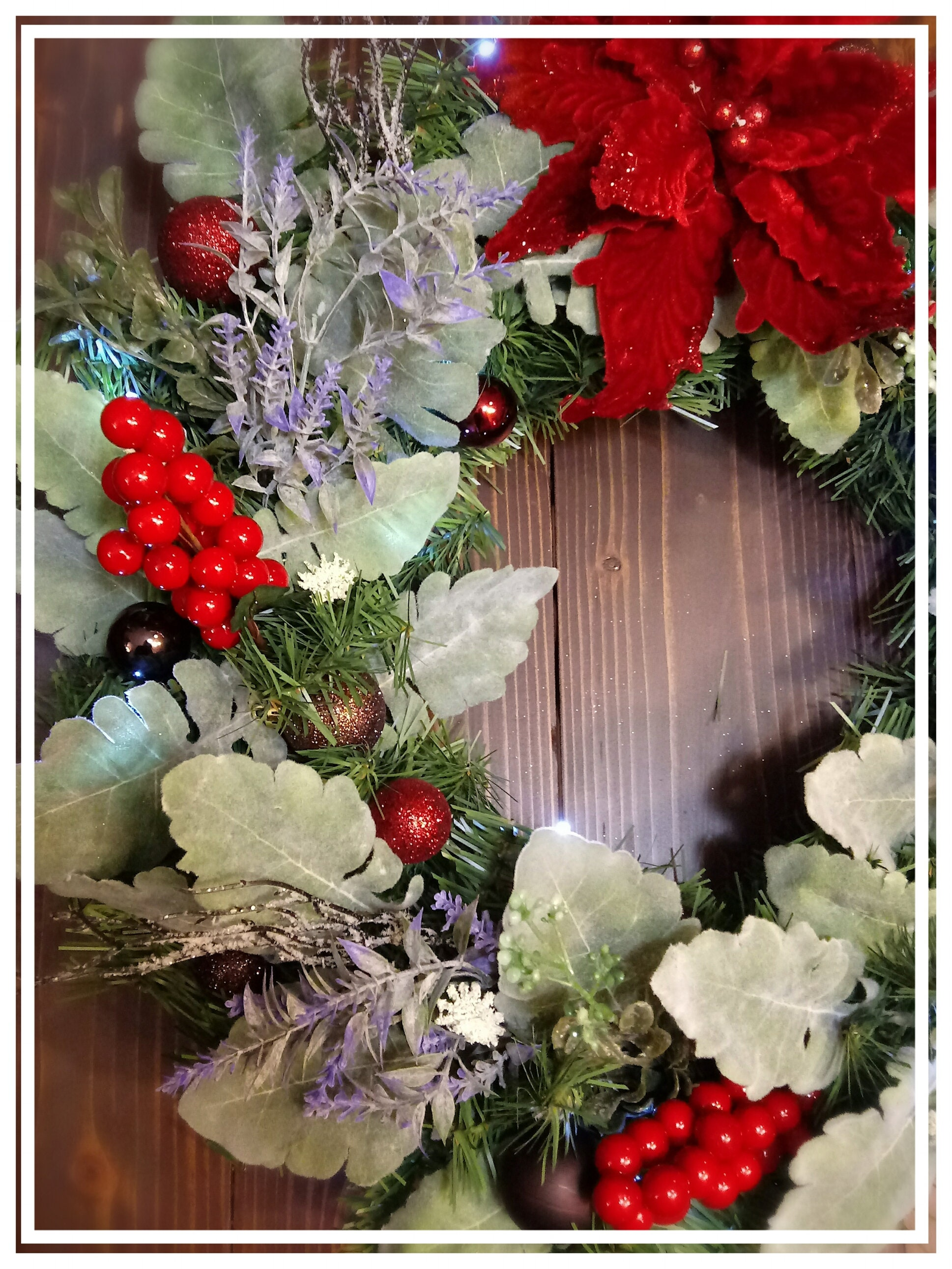 Christmas Woodlands Lighted Christmas Wreath Door Wreath