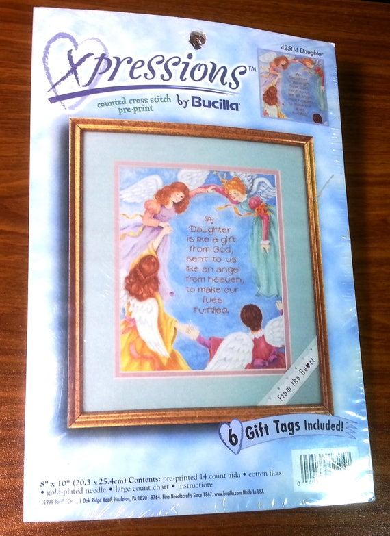 Xpressions By Bucilla Counted Cross Stitch Pre Print Kit Etsy