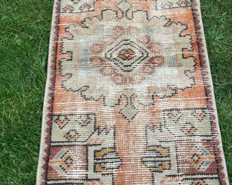 Small moroccan rug,Small old turkish rug,Small anatolia rug,Small Vintage rug S/42x93 F/1'4x3'1