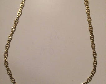 18 k Hamilton gold chain plated stainless steel necklace chain women men