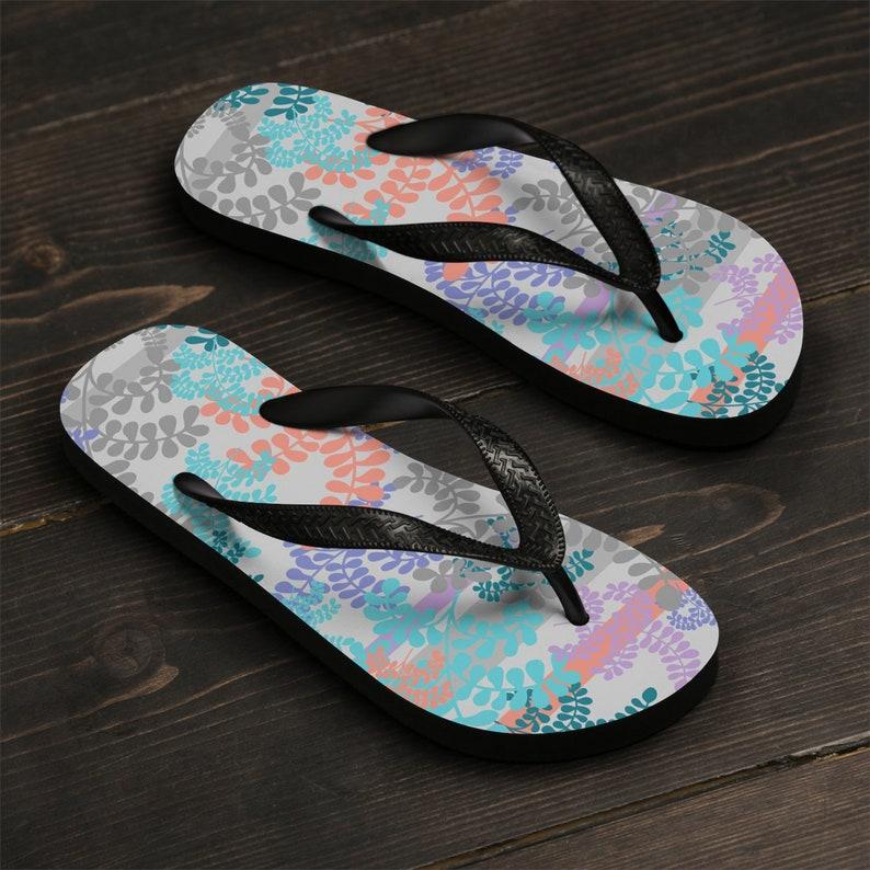 d556769876acca Turquoise Coral Women Flip-Flop Floral Summer Beach Flip | Etsy
