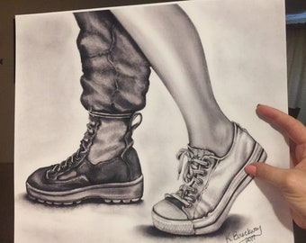 All services Converse and Combat Boot Print
