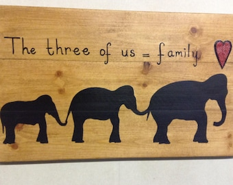 Handcrafted Elephant Silhouette Painting On Board
