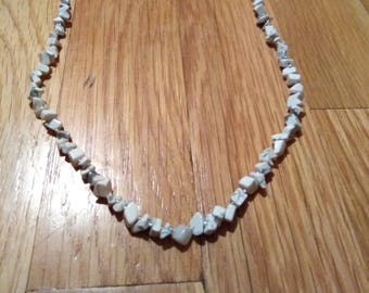 White Howlite Chip necklace