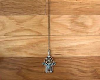 Hamsa hand pendant necklace