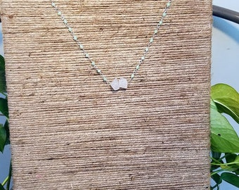 Mint & Quartz Necklace