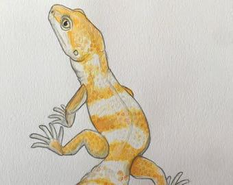 Leopard gecko watercolor
