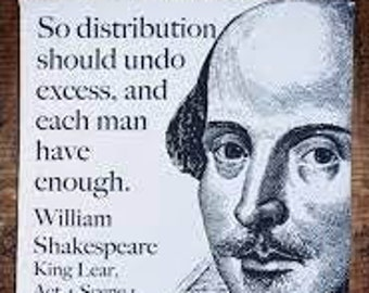 Shakespeare King Lear tea towel