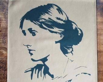 Virginia Woolf tea towel
