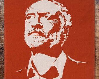 Jeremy Corbyn on the Economy tea towel