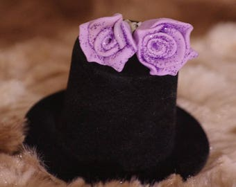 Fimo Polymerclay Roses Roses Winter Glitter