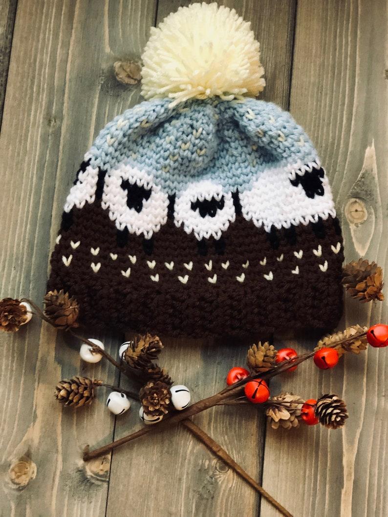 efe7f123f21 Crochet Pattern Baa Baa Sheep Crochet Hat Pattern beanie