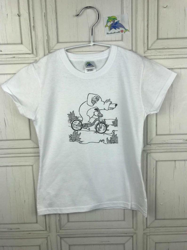 Coloring T-shirt, coloring girl boy