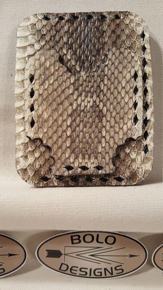 Westran Diamondback Rattlesnake Bi-Fold Wallet