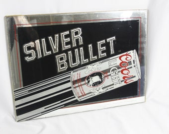 Coors mirror sign etsy vintage coors light silver bullet bar sign 18x13 mirrored aloadofball Image collections