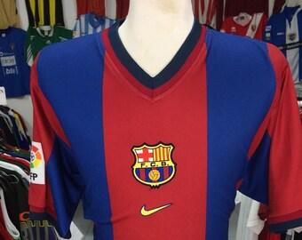 Shirt FC Barcelona 1998 00 (XL) Home Nike Jersey Camiseta Soccer Spain cb524cda7c3f9