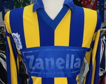 Vintage Shirt Rosario Central 80s (M) 10 Home Made in Argentina Jersey  Football Soccer Camiseta 861ee137d