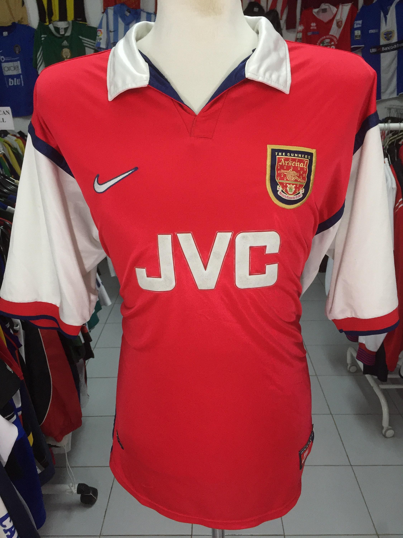 d4e3f25d7 Vintage Shirt Arsenal 1998 00 XXL home nike Jersey JVC
