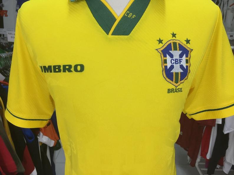 cfe829290 Vintage Football Shirt Brazil National Team 1994 M Home