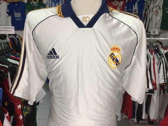 premium selection 14ff9 55f60 Vintage Shirt Real Madrid 1998/00 (XL) Home Adidas Camiseta Spain Futbol  Jersey España Soccer