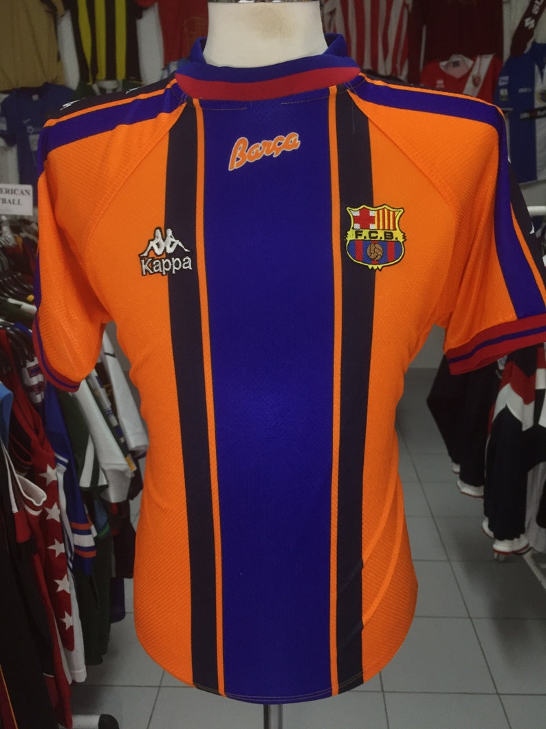 b1fcf0681 Shirt FC Barcelona 1996 97 S Away Kappa Orange Jersey