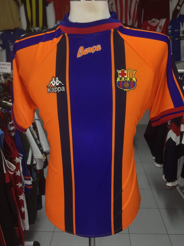 Shirt FC Barcelona 1996 97 S Away Kappa Orange Jersey  fd7c1605d01f2