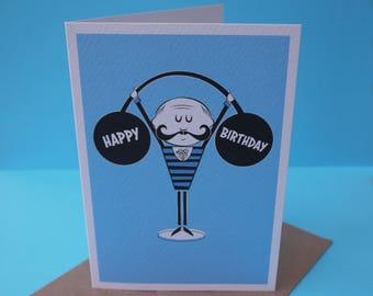 Strongman Birthday Card - A6