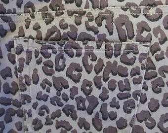 Vintage Guess Leopard Print Jeans Junior's Sz 30