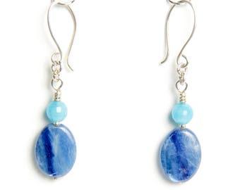 Kyanite and Angelite Earrings