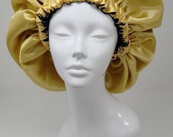 Regular size ~ Handmade, custom reversible satin bonnet for natural hair  moisture retention f5c29cc2570