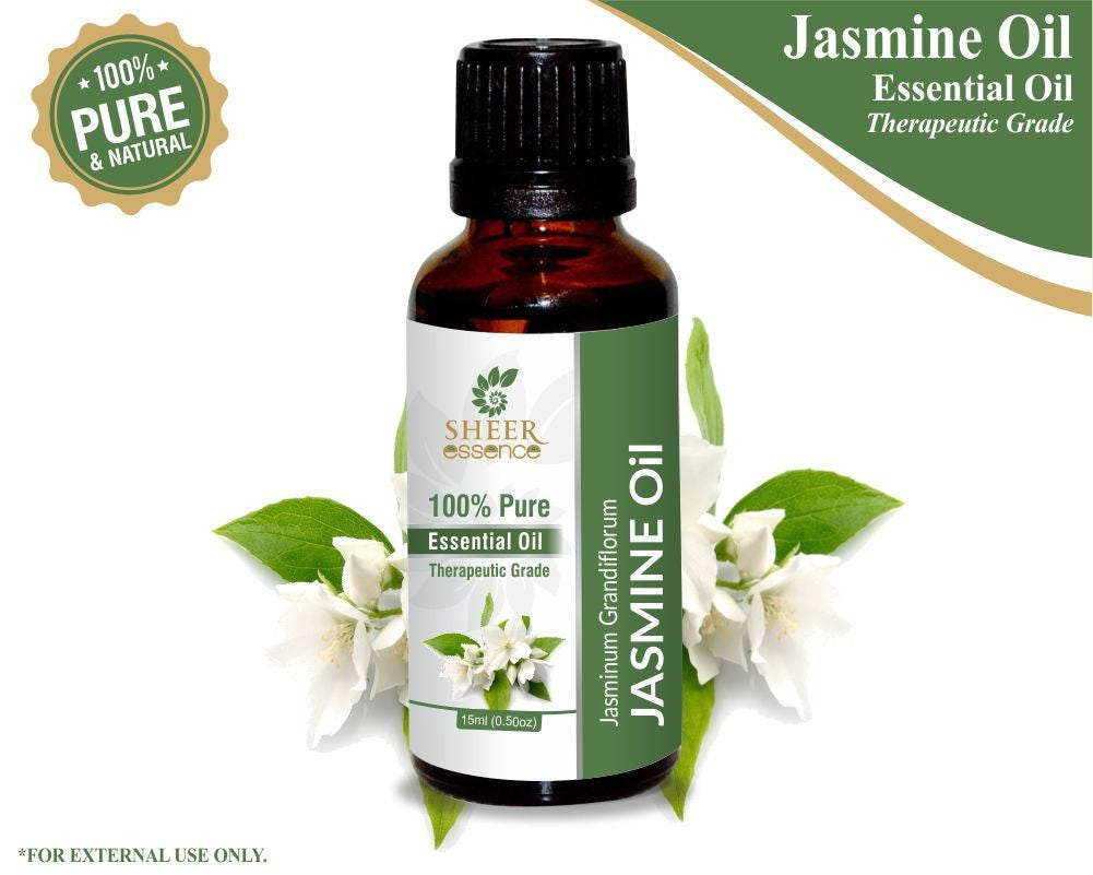 100 pure natural jasmine essential oil sheer essence etsy zoom izmirmasajfo