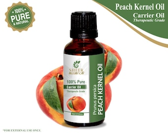 100% Pure Natural Peach Kernel Carrier Oil - Sheer Essence - Therapeutic Grade Peach Kernel Oil 5ml To 500ml Free Shipping Worldwide