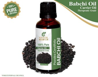 100% Pure Natural Babchi Carrier Oil - Sheer Essence - Therapeutic Grade Babchi Oil 5ml To 500ml Free Shipping Worldwide