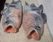 Felted slippers ,fish,woolen clogs,felted clogs,felt shoes,fox slipper,woman slippers , unisex slippers,home shoes,funny present