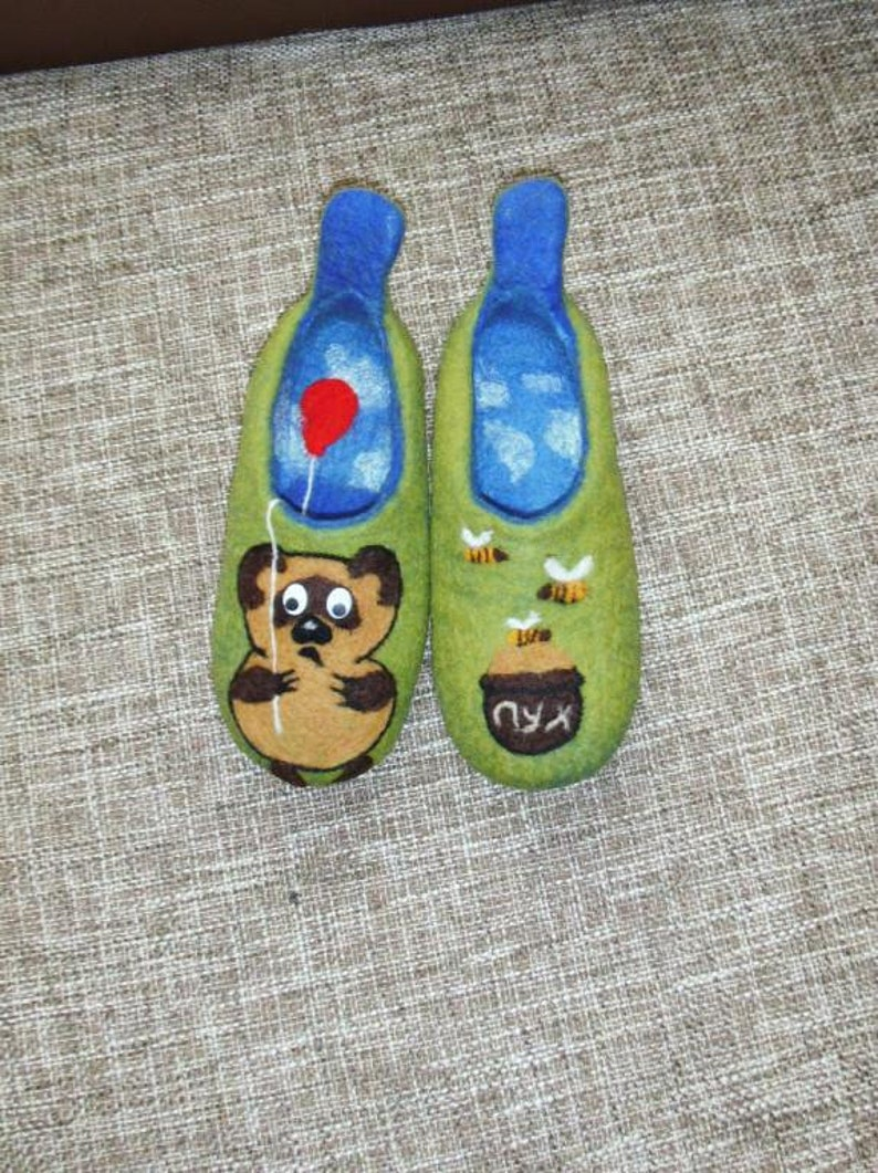 38d261fb43f5 Slippers children .Felt kids slippers.Felted shoes .Hand