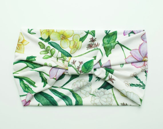 Flower Patch Floral - Women's Knit Stretch Modern Jersey Headband