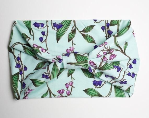 Sea Floral - Women's Knit Stretch Modern Jersey Headband