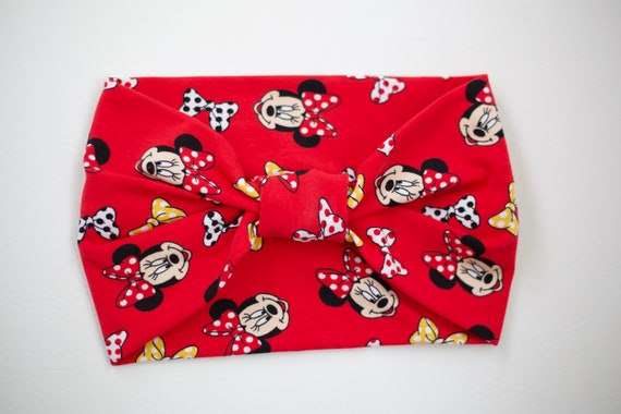 SALE Women/Child Size Knit Stretch Headband - Disney Red Minnie Mouse