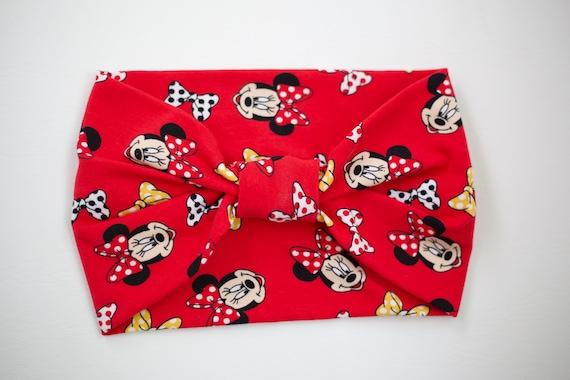 Women/Child Size Knit Stretch Headband - Disney Red Minnie Mouse