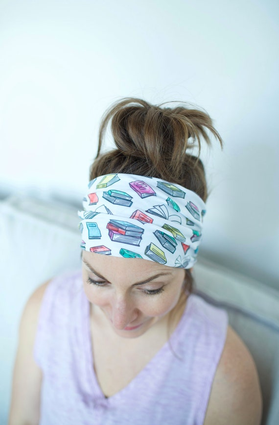 Bookworm - Women's Knit Stretch Modern Jersey Headband