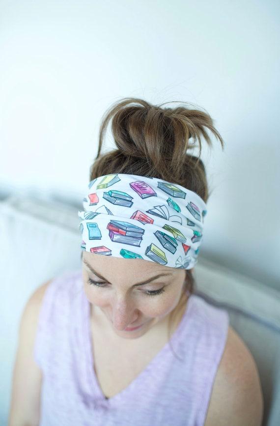 Bookworm - Women's Knit Stretch Modern Jersey Headband