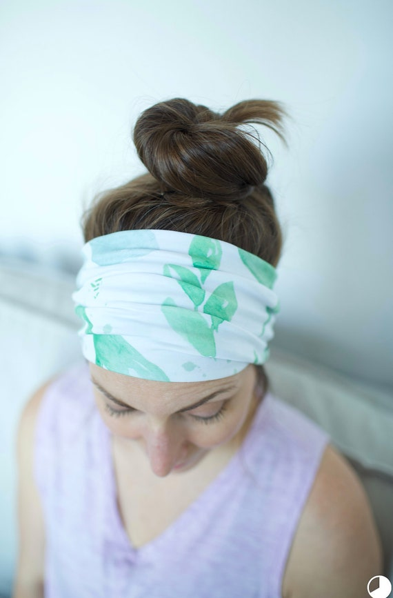 Light Watercolor Floral - Women's Knit Stretch Modern Jersey Headband