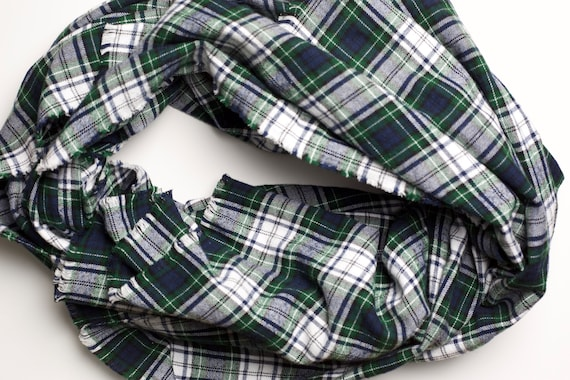 SALE Christmas Tree Green Plaid - XL Blanket Scarf for Women