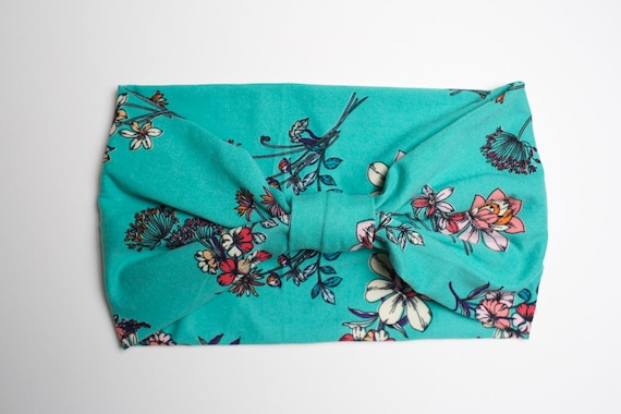 Vintage Floral - Women's Knit Stretch Modern Jersey Headband