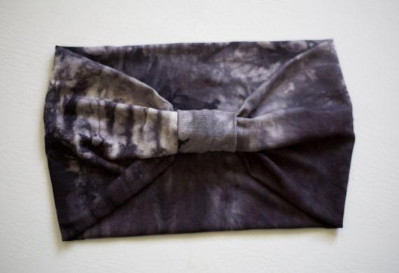 SALE Women's Knit Stretch Headband - Smoky Tie Dye